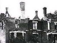 Borley Rectory - The ruins of the Rectory after the fire in 1939