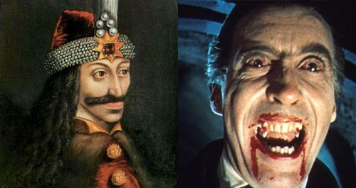 Vlad the Impaler and Christopher Lee as Dracula