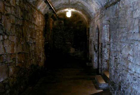 The Vaults beneath Edinburgh Castle
