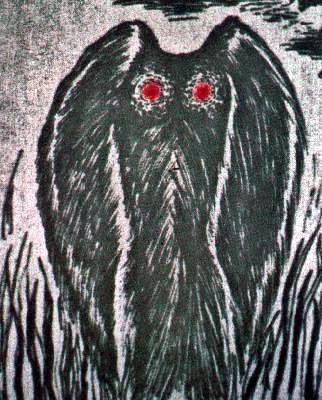 A Sketch of The Mothman