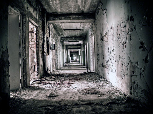 The abandoned hospital received many of Reactor 4′s first victims immediately after the explosion. The hospital itself however was already exposed to huge amounts of radiation.