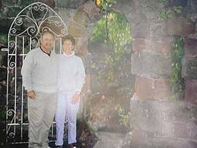 The Canadian Couple's Photograph at Ruthin Castle