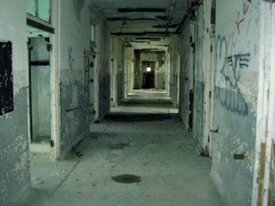 A corridor at Waverly Hills Sanatorium